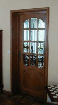 Porte chene massif interieur